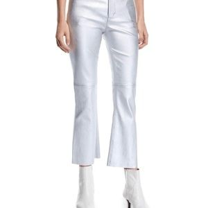 Current Elliot Metallic Leather Flare Leg Pants